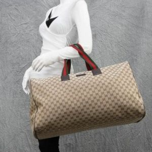 Gucci GG Large Web Duffle Travel Luggage Bag